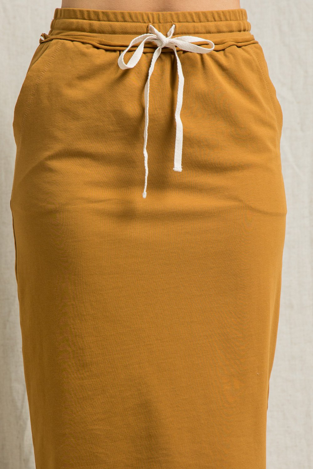 COTTON SKIRT WITH SELFT TIE DRAWSTRING